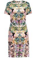 Mary Katrantzou Calligraphy-print Silk Dress - Lyst