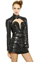 Jean Paul Gaultier Nappa Leather Bustier Jacket - Lyst