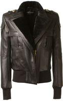Balmain Black Lambskin Jacket - Lyst