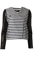 Jenni Kayne Leather Sleeve Jacket - Lyst