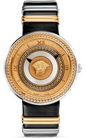 Versace Vmetal Rose Gold Black Dial Watch 40mm - Lyst