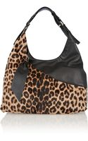 Diane Von Furstenberg Leopardprint Calf Hair Shoulder Bag - Lyst