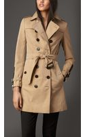 Burberry Long Grosgrain Detail Gabardine Trench Coat - Lyst