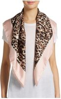 Valentino Leopardprint Silk Scarf - Lyst