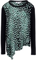 Elizabeth And James Leslie Printed Silk Crepe De Chine Top - Lyst