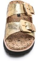 Rachel Zoe Fawn Two Band Flat Sandals - Lyst