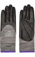 Balenciaga Leather and Stretch-knit Gloves - Lyst
