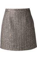 Saint Laurent Metallic Skirt - Lyst