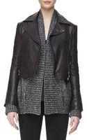 J Brand Aiah Leather Zip-front Jacket - Lyst
