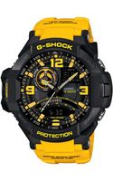 G-shock Mens Analog-digital Yellow Resin Strap Watch 51x52mm -9b - Lyst