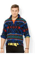 Polo Ralph Lauren Polo Big and Tall Jacquard Workshirt - Lyst
