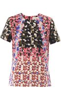 Peter Pilotto Geo-print Silk Top - Lyst