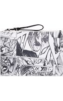 McQ by Alexander McQueen Black and White Manga Zip Clutch - Lyst