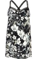 River Island Floral Print Lace Strap Cami Top - Lyst