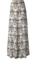 M Missoni Printed Wide Leg Trousers - Lyst