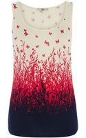 Oasis Meadow Butterfly Placement Vest Top - Lyst