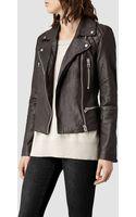 AllSaints Bleeker Leather Biker Jacket - Lyst