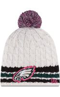 New Era Philadelphia Eagles Breast Cancer Awareness Knit Hat - Lyst