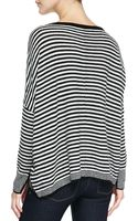 Alice + Olivia Boxy Ribbed Striped Sweater - Lyst