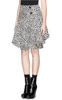 Chloé Spot Print Flare Silk Skirt - Lyst