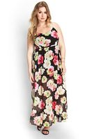 Forever 21 Painted Floral Maxi Dress - Lyst
