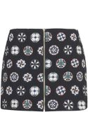 Topshop Womens Badge Zip Front Pelmet Skirt  Black - Lyst