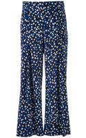 Oscar de la Renta Dot Print Trousers - Lyst