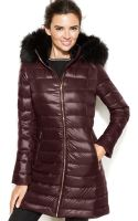 Calvin Klein Faux-fur-trimmed Hooded Packable Down Coat - Lyst