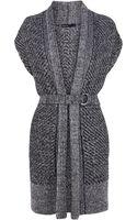 Karen Millen Chunky Tweed Cardigan - Lyst