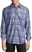 Robert Graham Suarez Mixedprint Woven Sport Shirt Charcoal Xs - Lyst