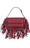 Valentino Fringe Leather Flap Bag - Lyst