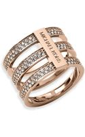 Michael Kors Pave Tri Stack Ring - Lyst
