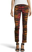 McQ by Alexander McQueen Tartantigerprint Skinny Denim Pants - Lyst