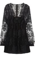 Burberry Prorsum Floral Embroidered Tulle Top - Lyst