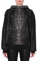 Christopher Kane Printed Cotton Hoody - Lyst