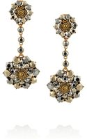 Oscar de la Renta Goldplated Crystal Drop Clip Earrings - Lyst