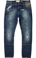 River Island Mid Wash Chester Tapered Jeans - Lyst