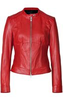 Steffen Schraut Leather Moto Jacket - Lyst