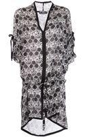 Ann Demeulemeester Asymmetric Print Dress - Lyst