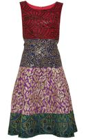 Oscar de la Renta Embroidered Jacquard Dress - Lyst