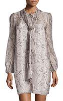 Diane von Furstenberg Bishopsleeve Airy Voile Dress - Lyst