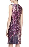 J. Mendel Sleeveless Fitted Sheath Dress - Lyst