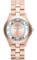 Marc By Marc Jacobs Womens Henry Rose Gold Tone Stainless Steel Bracelet Watch 34mm - Lyst
