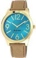 Nine West Womens Cream Strap Watch 42mm Nw - Lyst