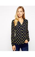 Oasis Bow Shirt - Lyst