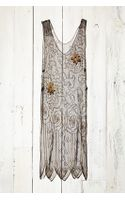 Free People Vintage Mesh Beaded Dress - Lyst