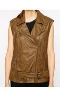 Ganni Leather Vest - Lyst
