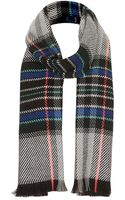 Topshop Fluro Check Scarf - Lyst