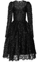 Dolce & Gabbana Floral Appliquã Lace Dress - Lyst