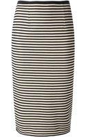 Forte Forte Striped Straight Skirt - Lyst